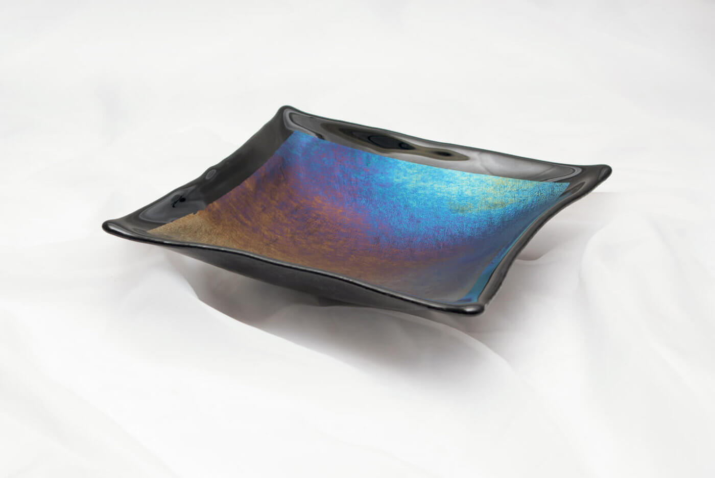 Dichroic glassware product photography