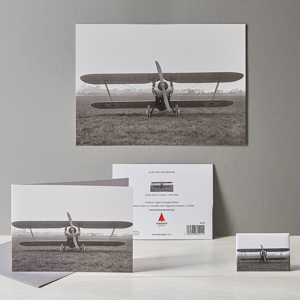 Product photography of aviation related greetings cards and gifts
