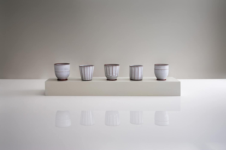 Handmade ceramics group photograph featuring Graham Hudson's work