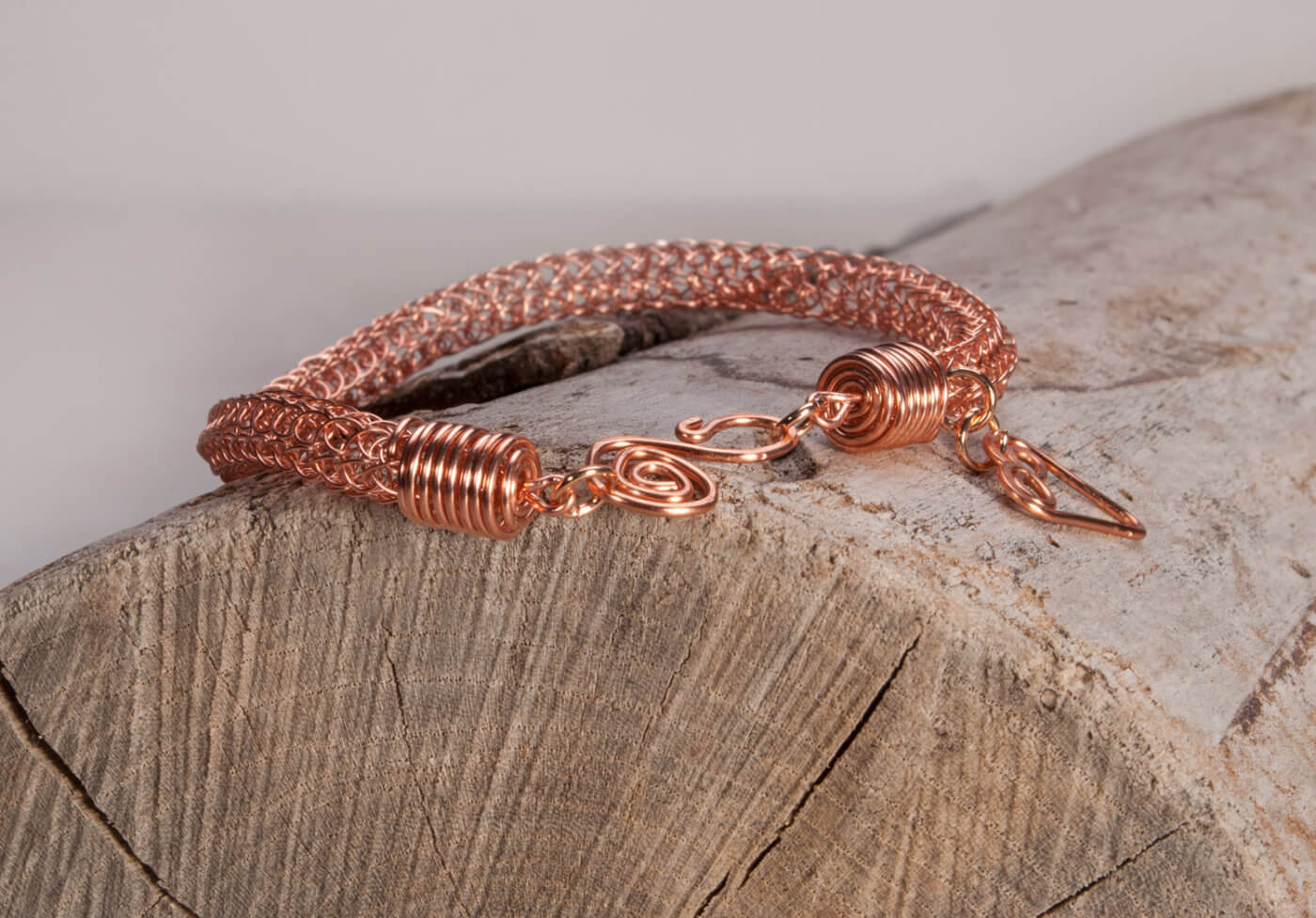 Copper bracelet product photography of jewellery