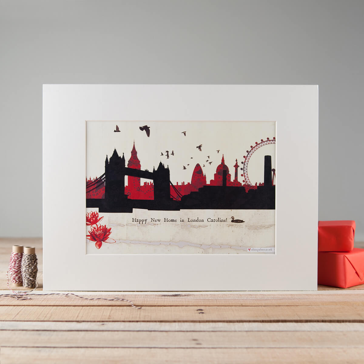Mounted print of London product photograph