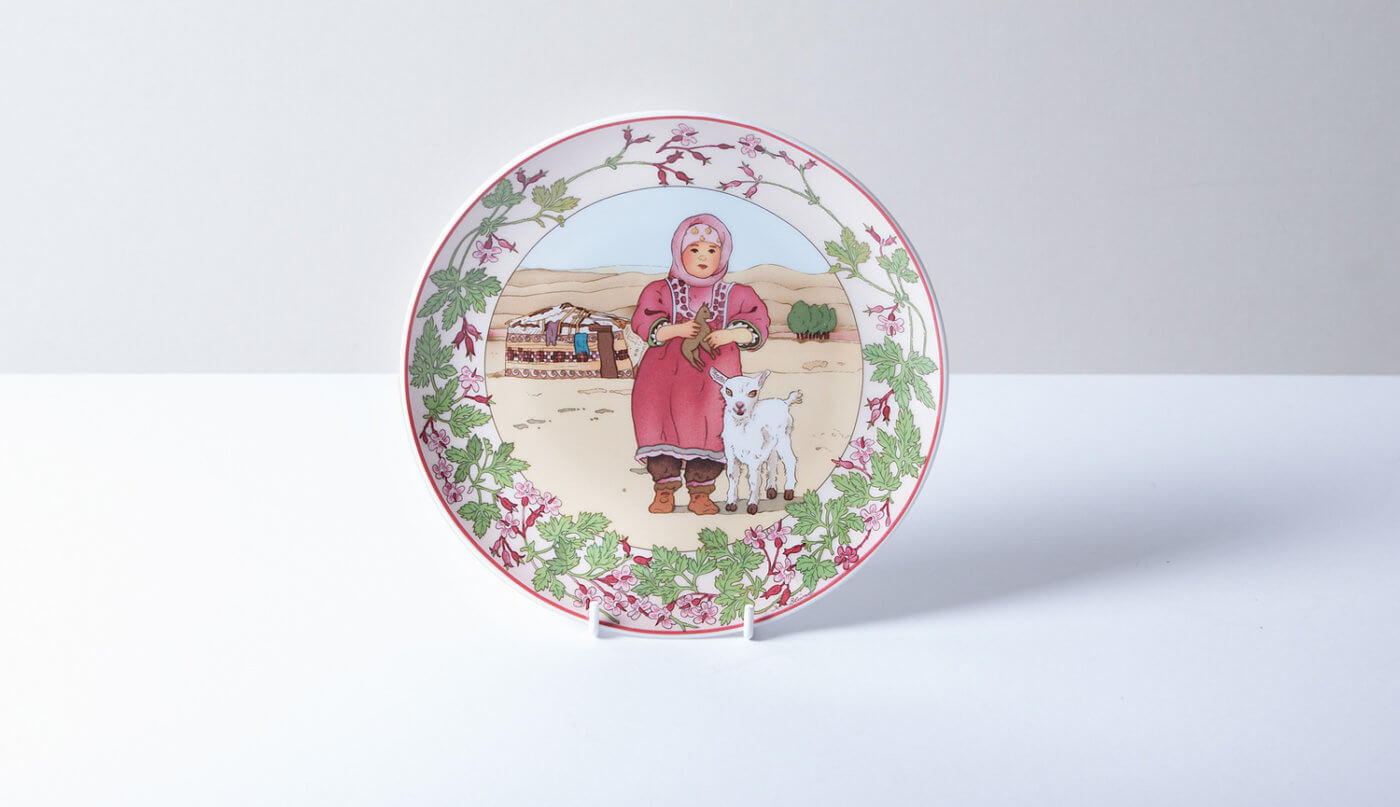 Unicef decorative ceramic plate product photograph