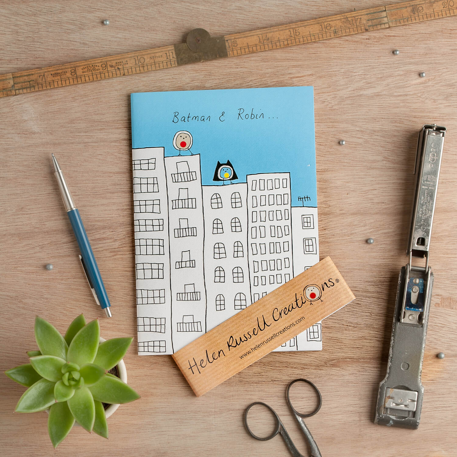 Vintage styled product photograph of stationery by Helen Russell Creations