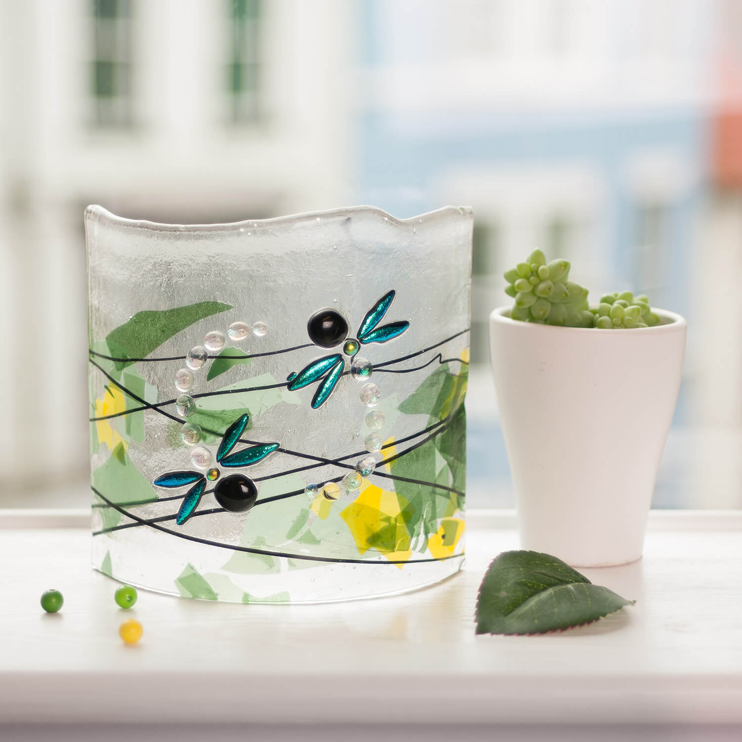 Handmade glassware by Dragonfly Dichroic