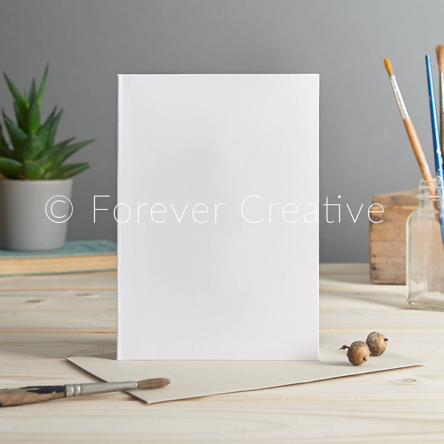 Stock photography for greetings card designers, blank card ready for superimposing of artwork in a setting