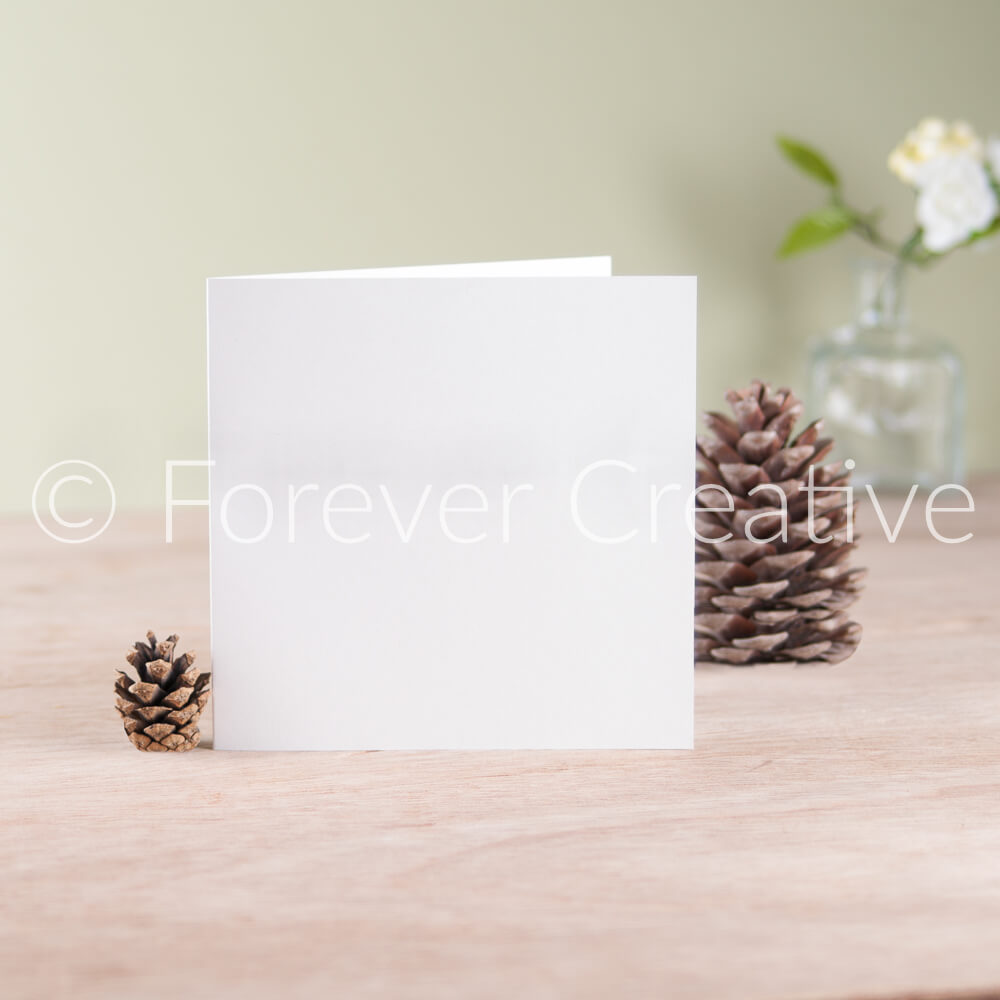 Greetings card blank stock photograph in setting