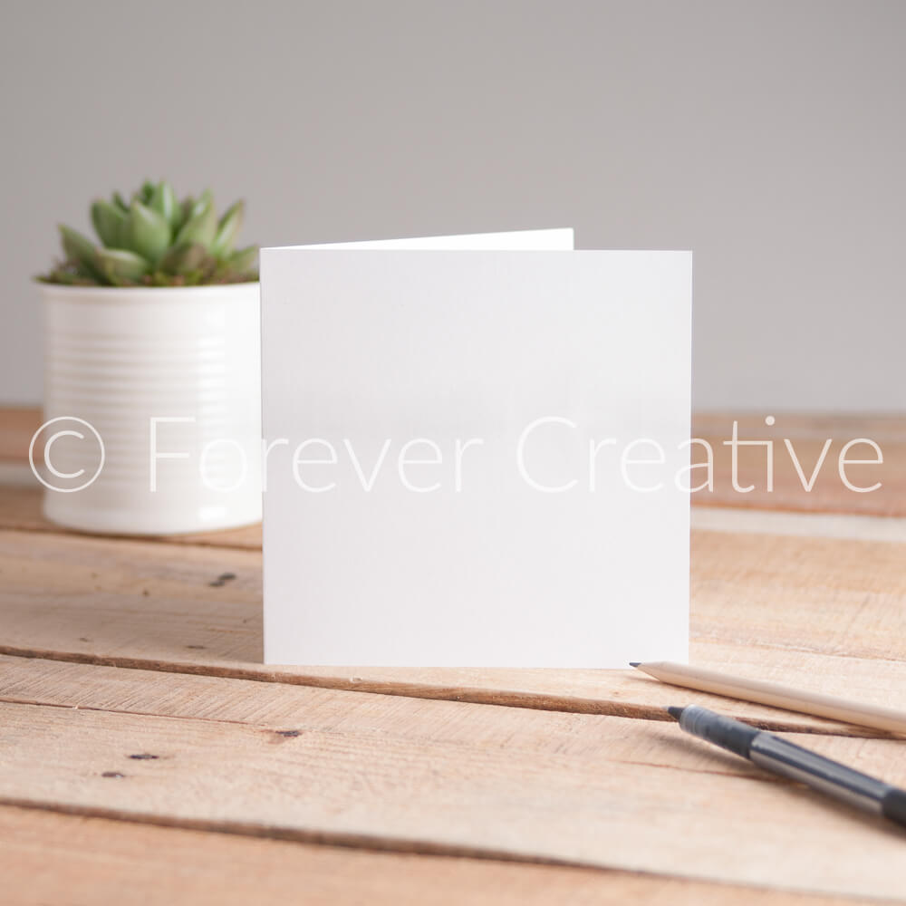 Greetings card stock image of single card with plant