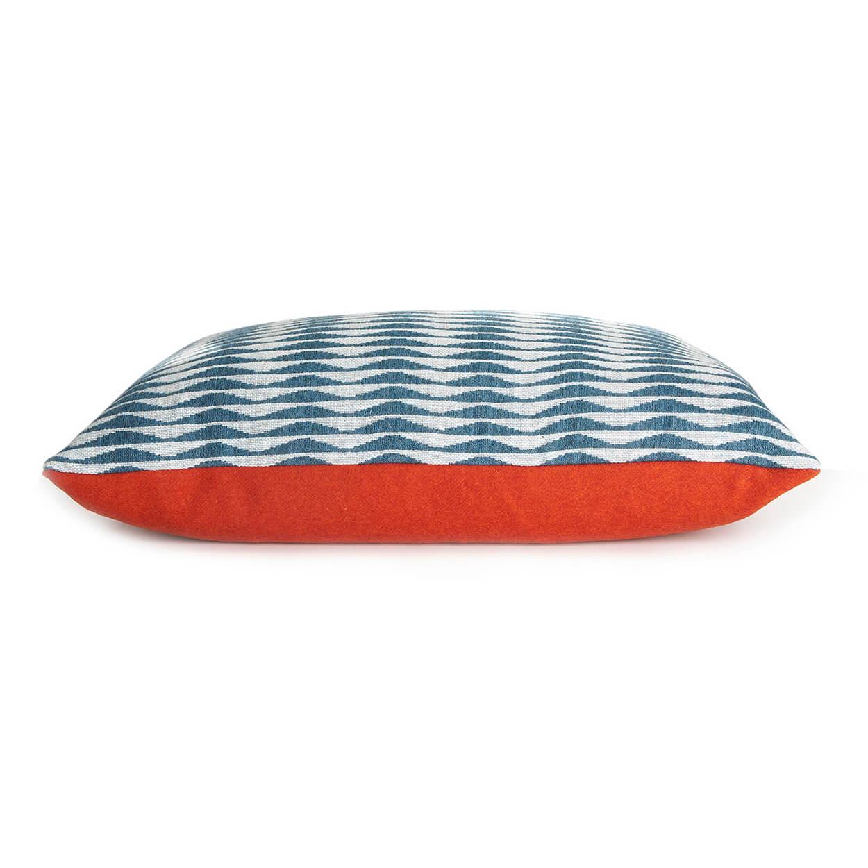 White background photography of a designer cushion