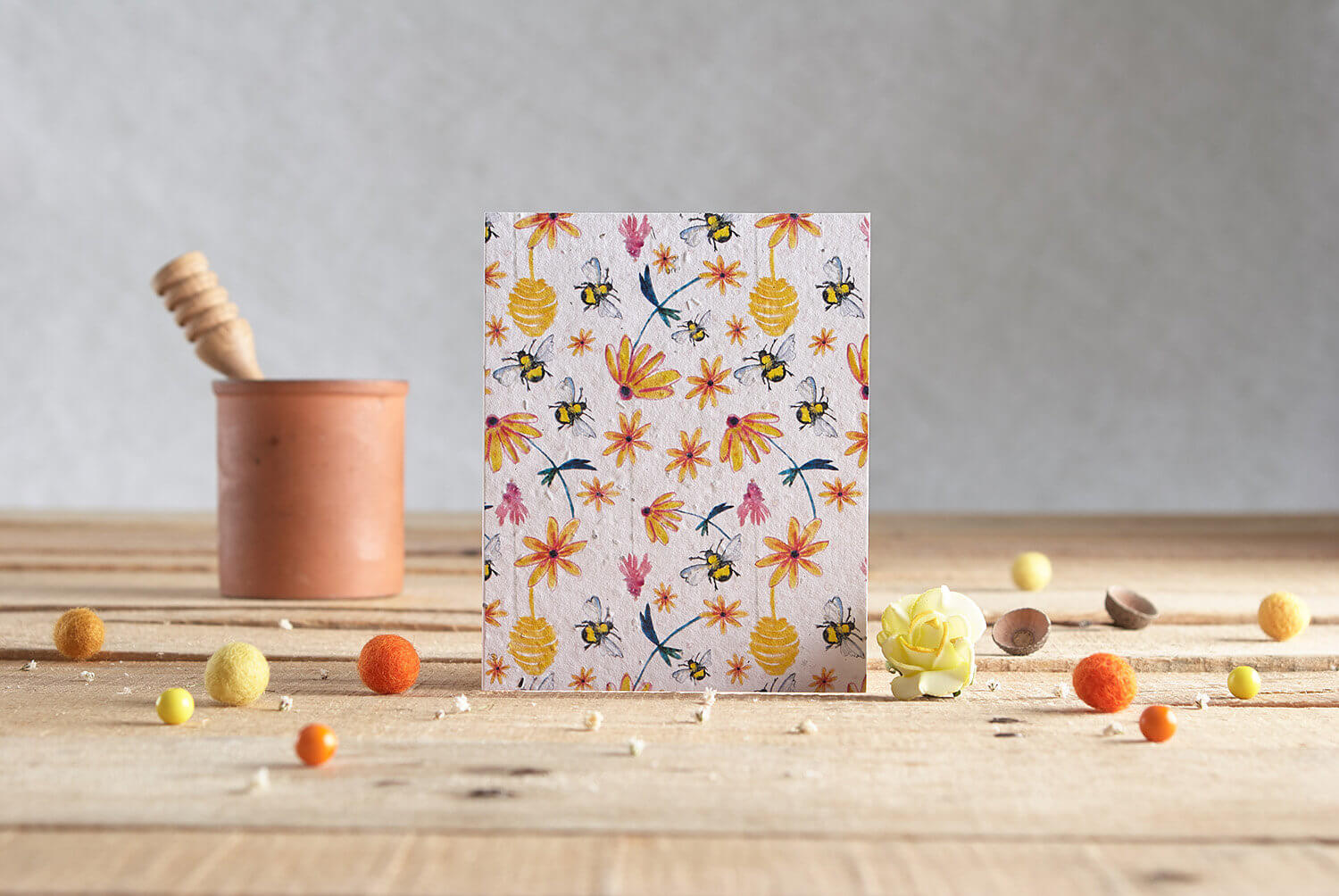 Greetings card product photography of a card by Hannah Marchant