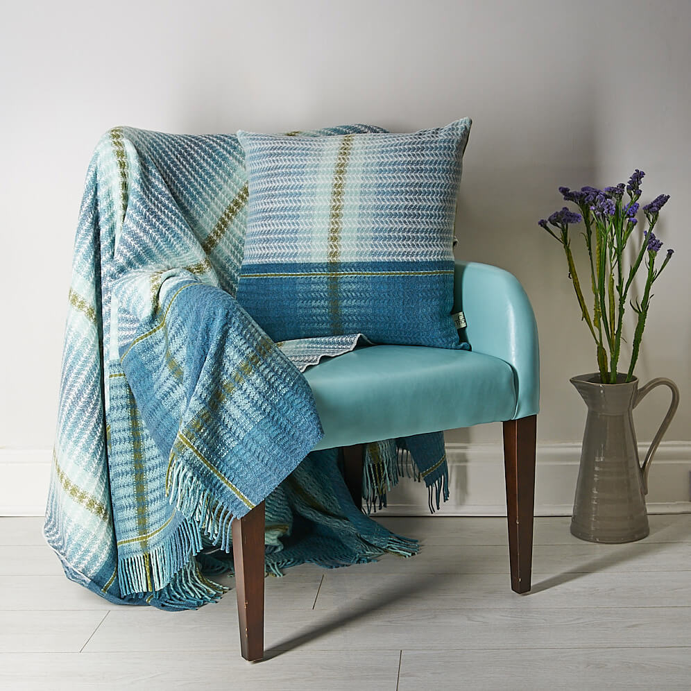 Camilla Thomas textiles photographed on client supplied chair