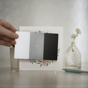 Getting the white balance right via use of a grey card