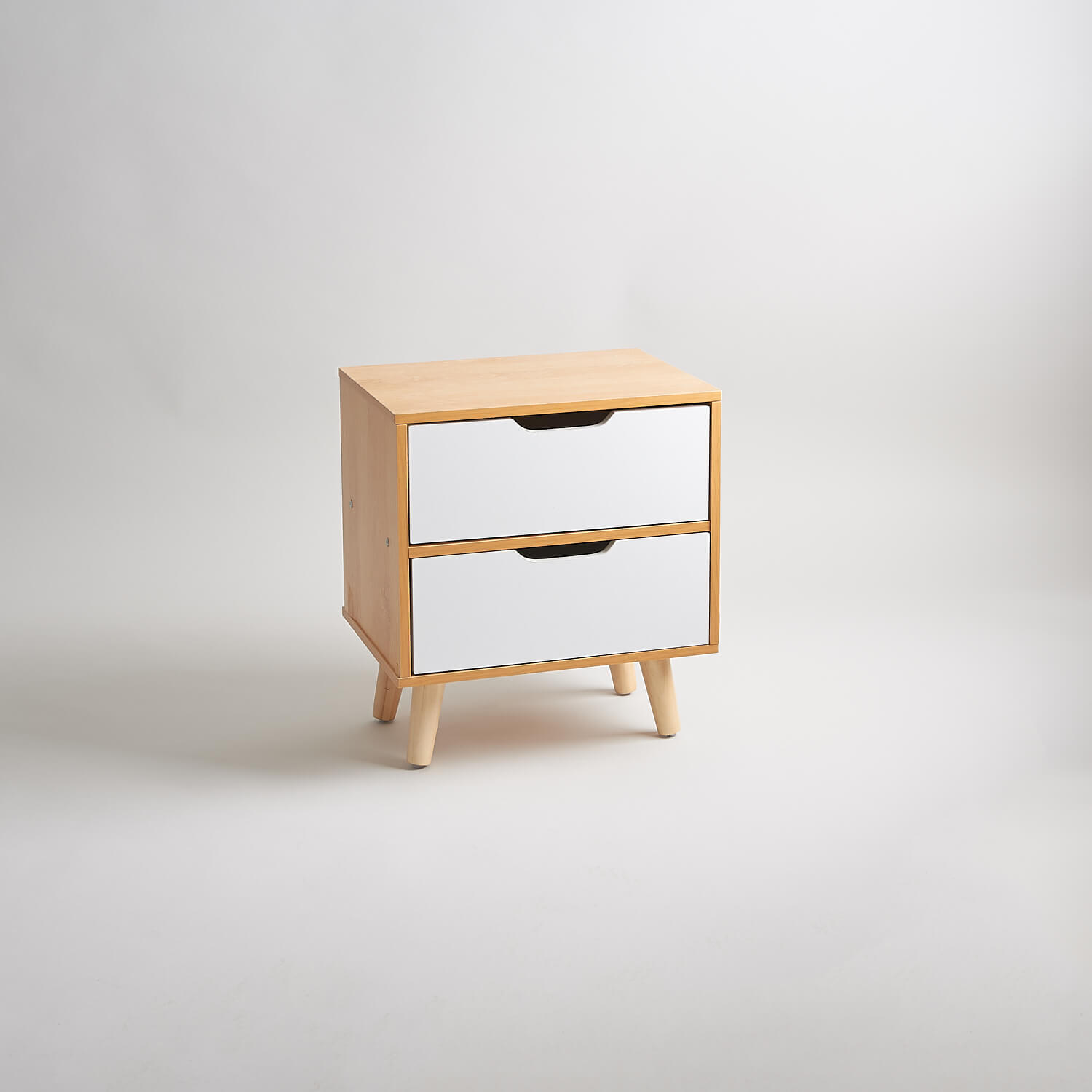Retro modern style modern bedside chest of two drawers