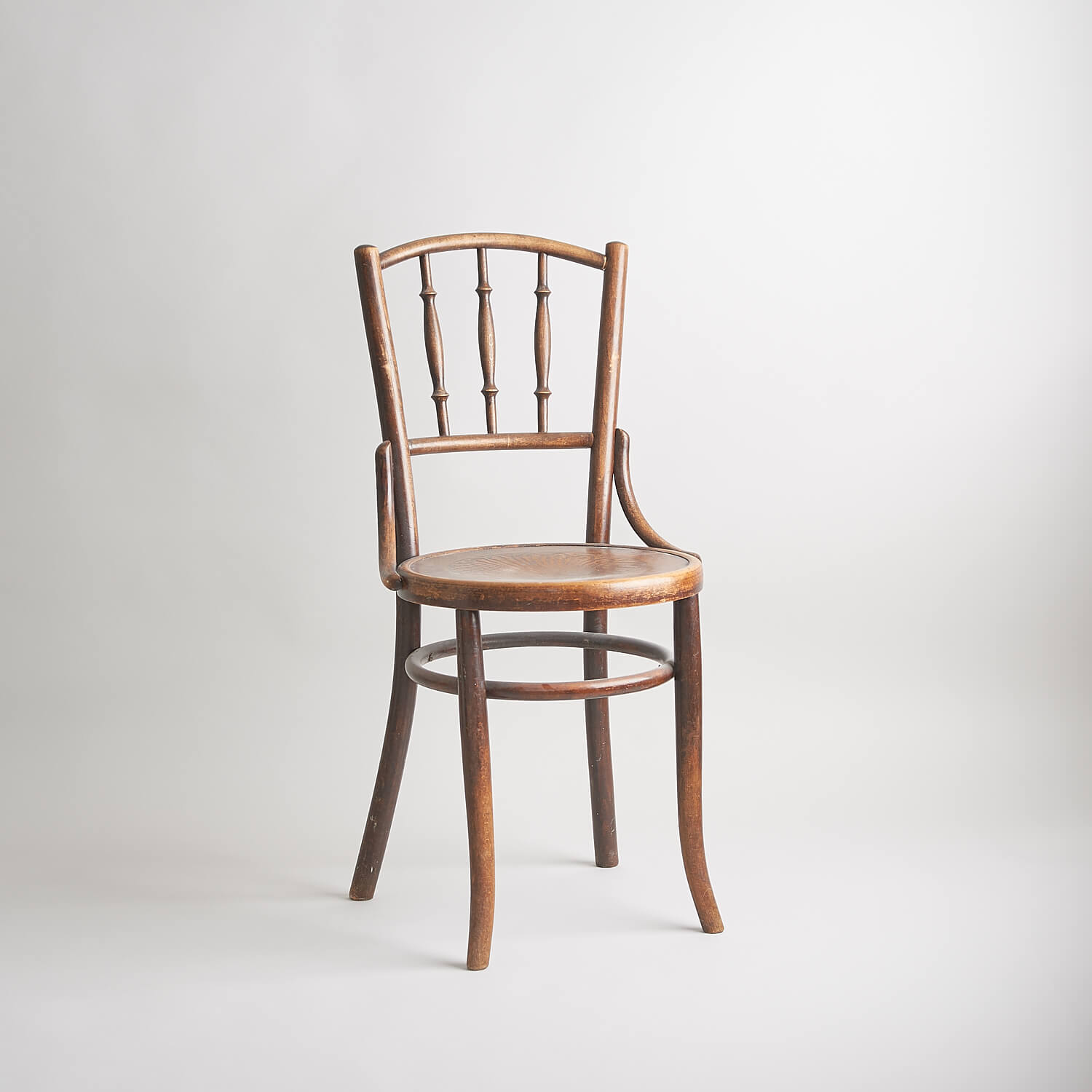 Vintage bentwood stained chair perfect for photographic shoots