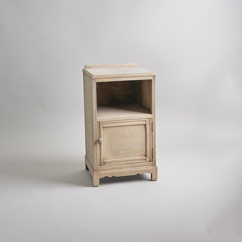 Stripped mid century vintage bedside cabinet