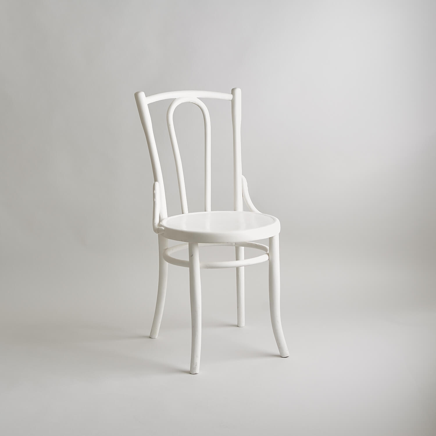Painted white bentwood chair studio furniture
