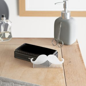 Styled product photography for CGB Giftware of their Dapper Chap range moustache comb