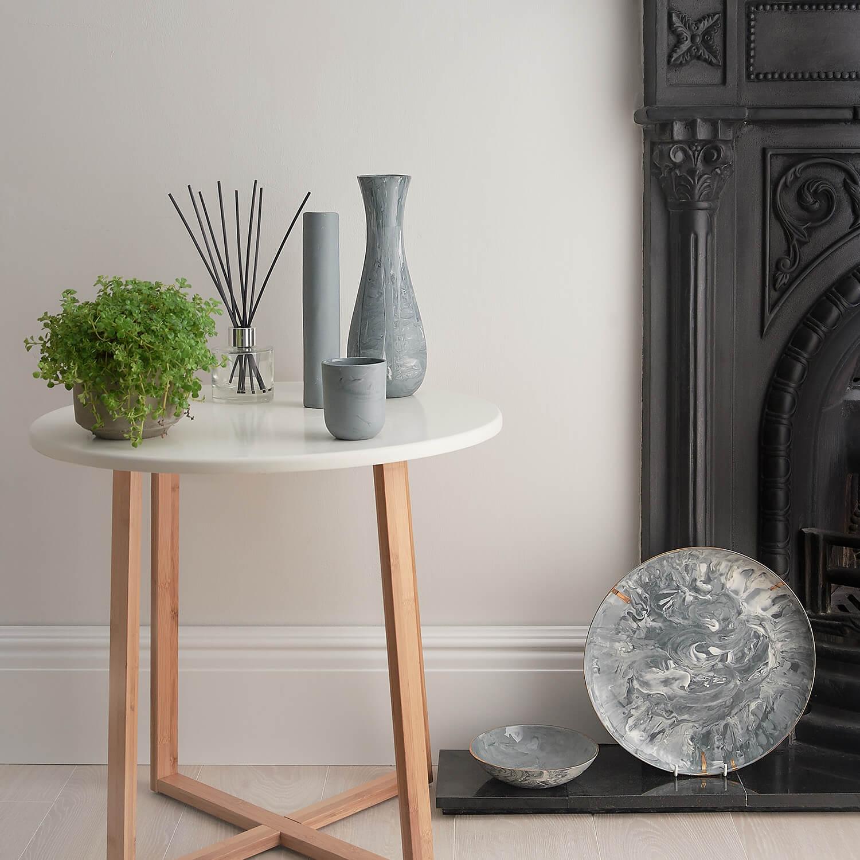 Lifestyle interior display of handmade ceramics