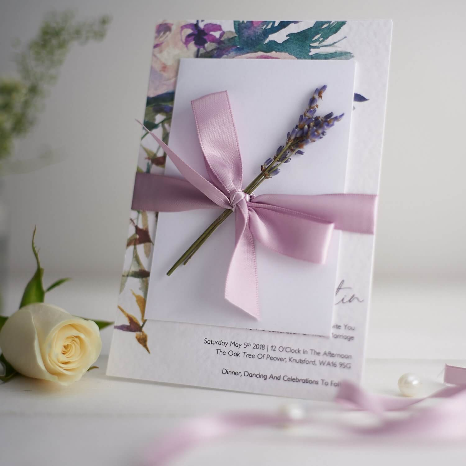 Limited depth of field used to create soft effect in this product photograph for a stationery designer
