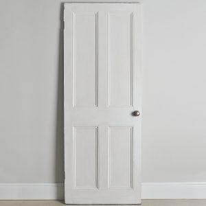 Original Victorian white painted door