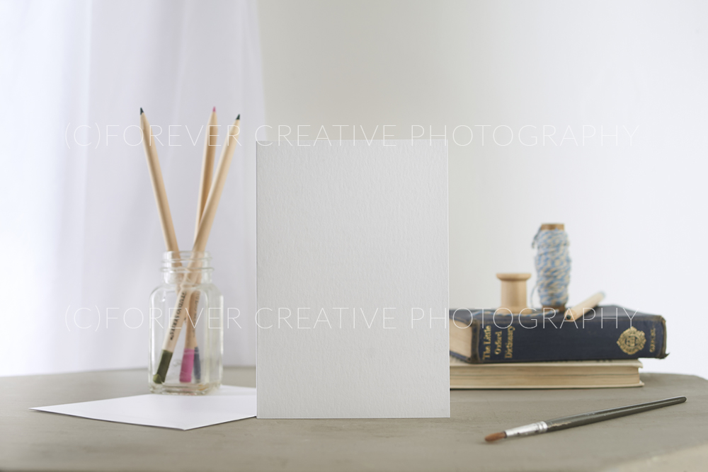 Blank greetings card designers template photograph in soft setting